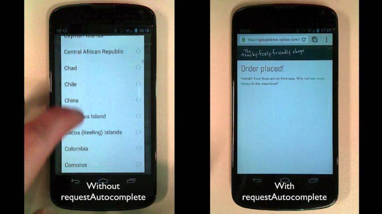 Benefits of requestAutocomplete