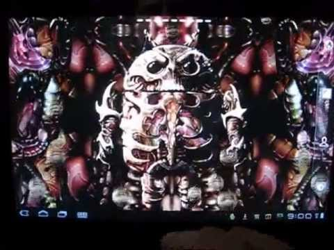 Biomechanical Droid Live Wallpaper