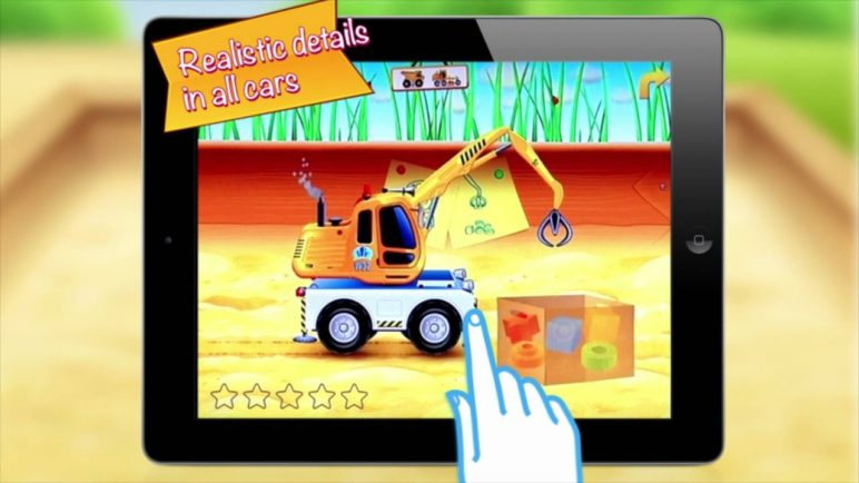 Cars in sandbox: Construction - by Thematica (educational and fun apps for kids)