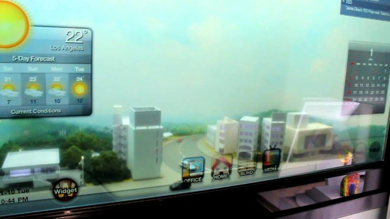 CES 2012: Transparent Samsung Smart Window