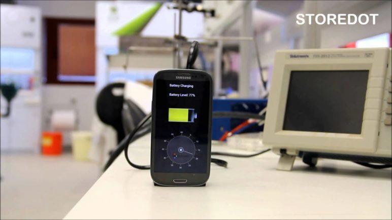 Charging Smartphone in 30S: StoreDot Flash-Battery Demo