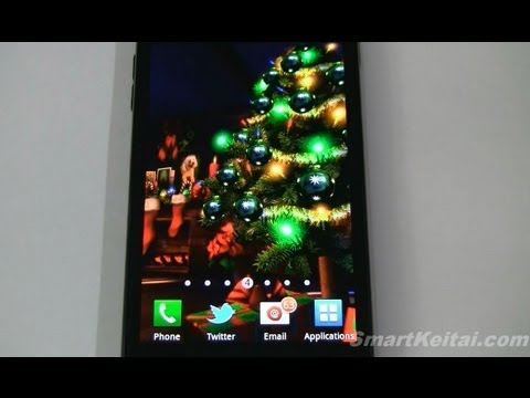 Christmas HD Live Wallpaper for Android   (Reviewed on Sprint Galaxy S II)