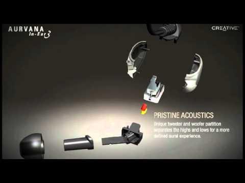 Creative Labs Aurvana In-Ear3 Noise-Isolating Earphones Demo