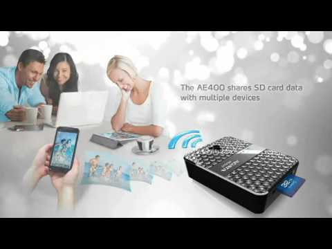 DashDrive™ Air AE400 Wireless Storage Reader and Power Bank