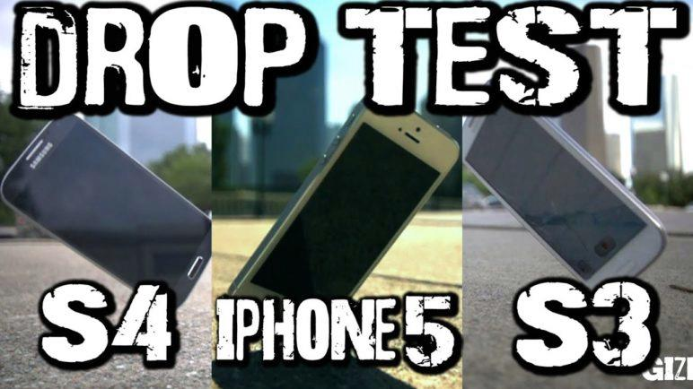 Drop Test: Galaxy S4 vs iPhone 5 vs Galaxy S3
