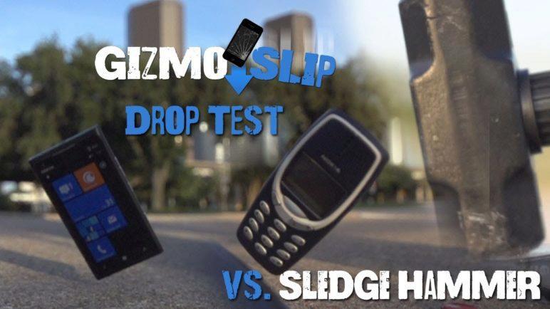Drop Test: Nokia Lumia 900 vs Nokia 3310 (Vs. Sledge Hammer)