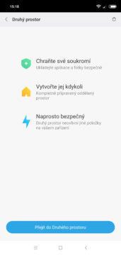 Druhý prostor Xiaomi Redmi Note 6 Pro
