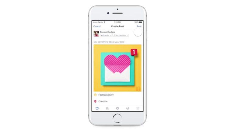 Facebook's Valentine's Day Card