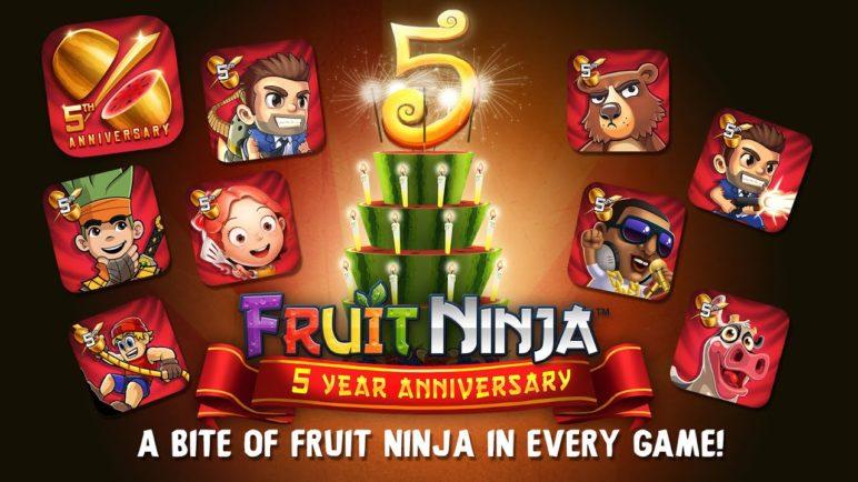 Fruit Ninja 5 Year Anniversary Celebration!
