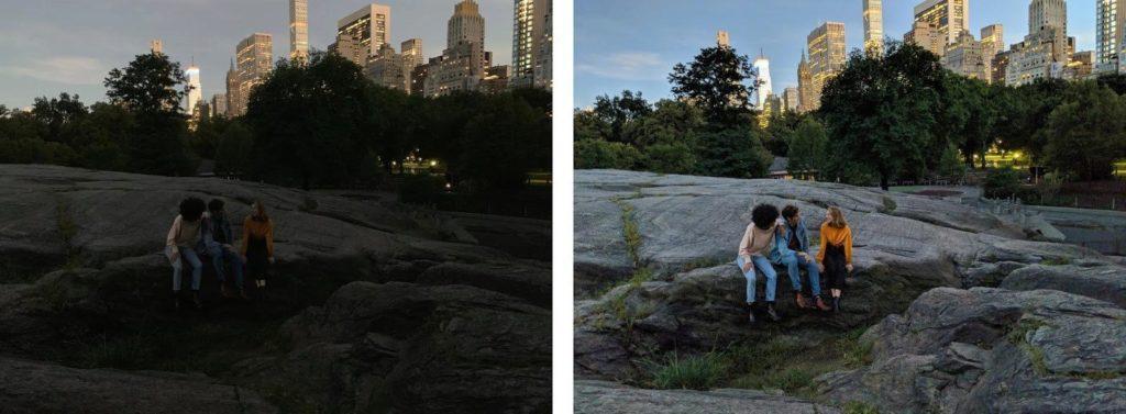 Google Camera Night Sight fotí skvěle srovnání