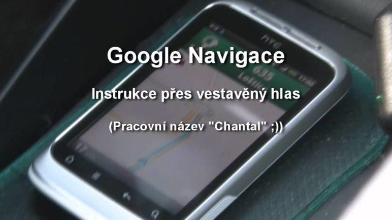 Google Navigace - porovnání vestavěného hlasu a TTS syntézy