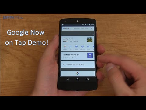 Google Now On Tap Demo: Android M Dev Preview 3