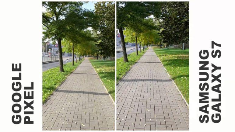 Google Pixel vs Samsung S7 - porovnání stabilizace