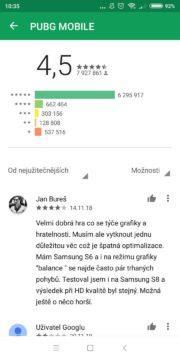 Google Play design hodnocení - starý design 02