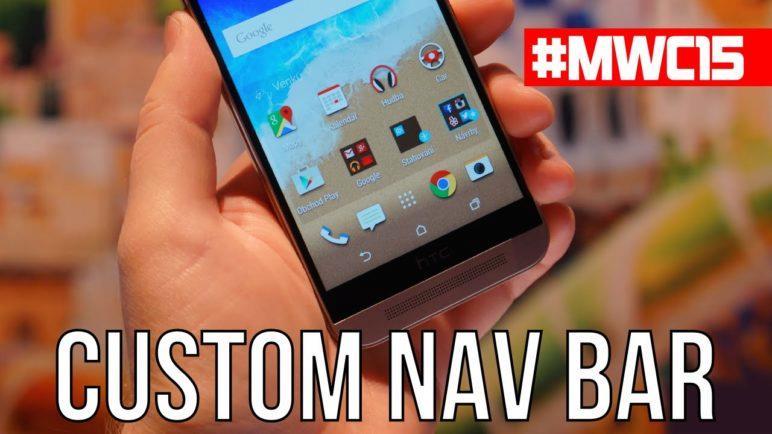 Hands-on: HTC One M9 custom nav bar
