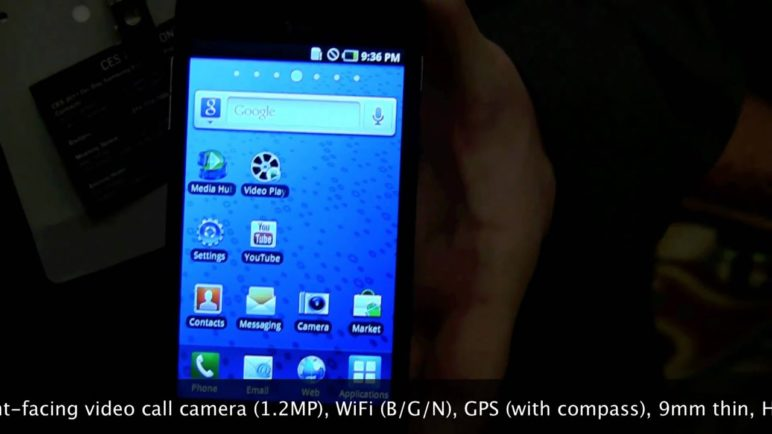 Hands-on the AT&T Samsung Infuse 4G Android phone from CES 2011