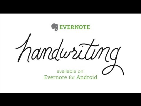 Handwriting in Evernote for Android