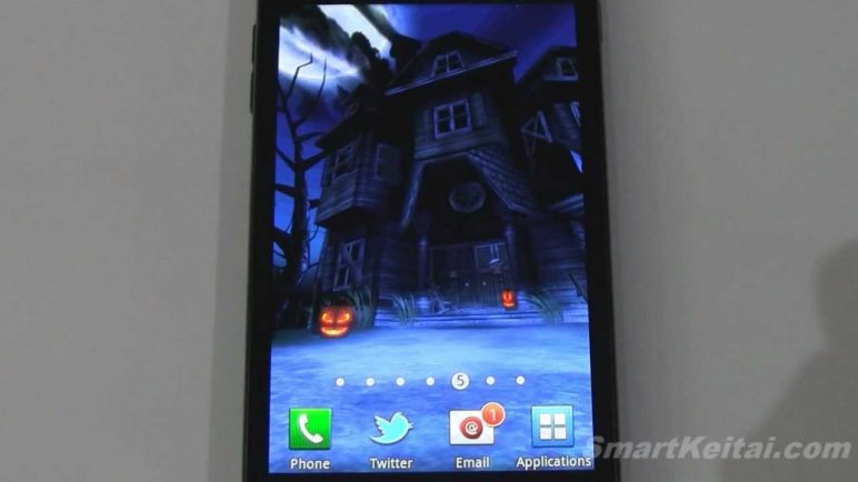 Haunted House HD Halloween Live Wallpaper for Android (reviewed on Epic 4G Touch, Galaxy Tab 10.1)