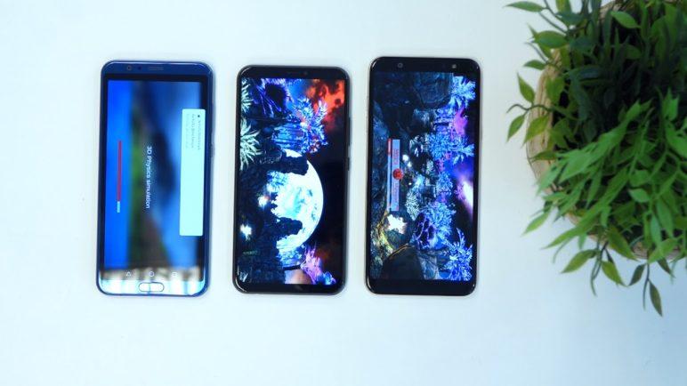 Honor View 10 vs Asus ZenFone 5 vs Samsung Galaxy A6+ - Antutu benchmark - SvetAndroida.cz