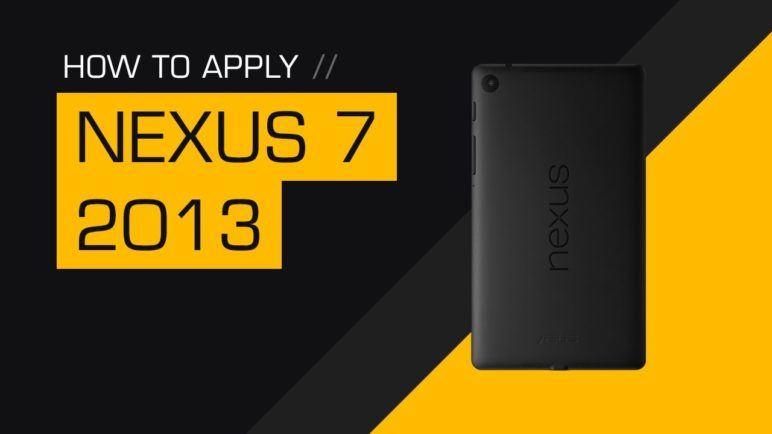 How to Apply a dbrand 2013 Nexus 7 (FHD) Skin