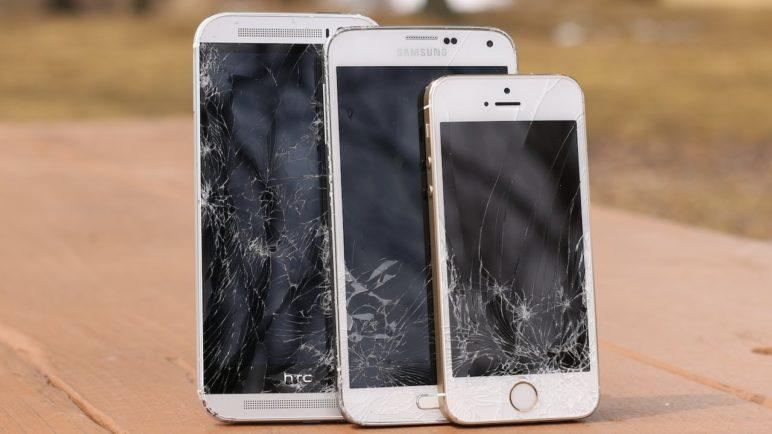 HTC One M8 vs Samsung Galaxy S5 vs Apple iPhone 5s Drop Test!