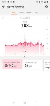 Huawei Health aplikace Huawei Watch GT mereni tepu