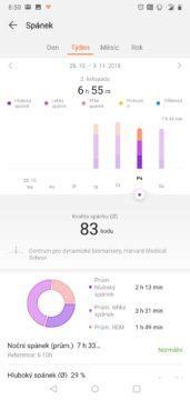 Huawei Health aplikace Huawei Watch GT spanek