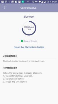 Informace k zapnutému Bluetooth