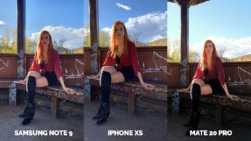 jak foti apple iphone xs vs huawei mate 20 pro vs samsung galaxy note 9 modelka