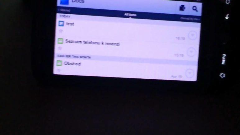Jak natáčí video Sony Ericsson Xperia Arc