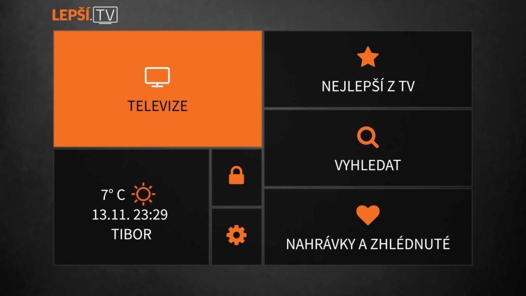 Lepší.TV menu