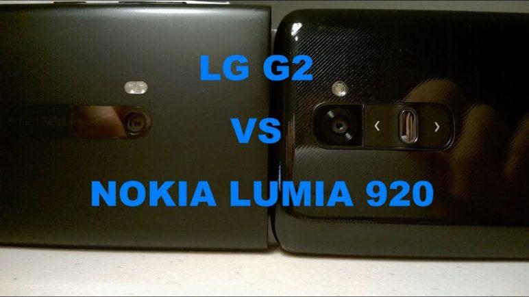 LG G2 VS NOKIA Lumia 920 (Camera & Audio Comparison 2)