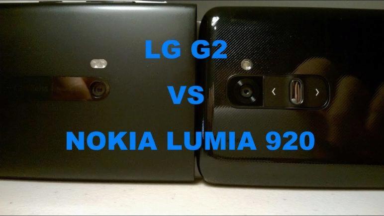 LG G2 VS NOKIA LUMIA 920 (Camera & Audio Comparison)
