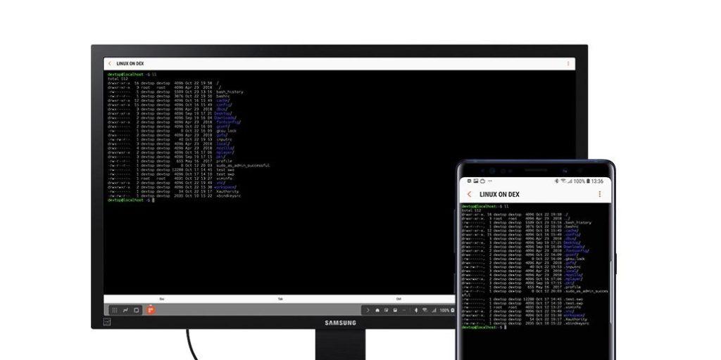 linux na dex samsung galaxy