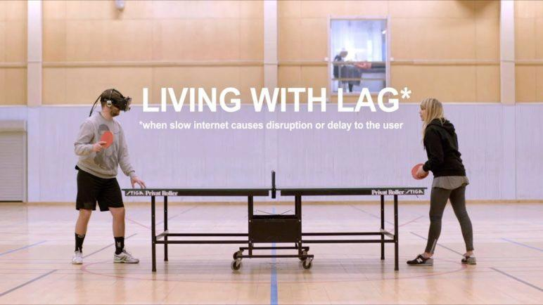 living with lag - an oculus rift experiment