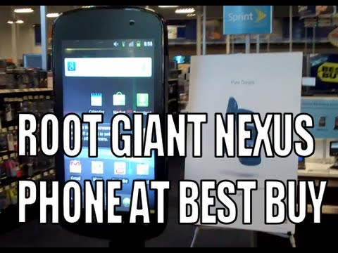 MAN ROOTS GIANT 6 FOOT PHONE AT BEST BUY SUCCESSFULLY!
