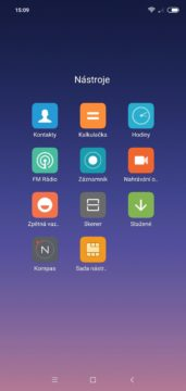 MIUI aplikace Xiaomi Redmi Note 6