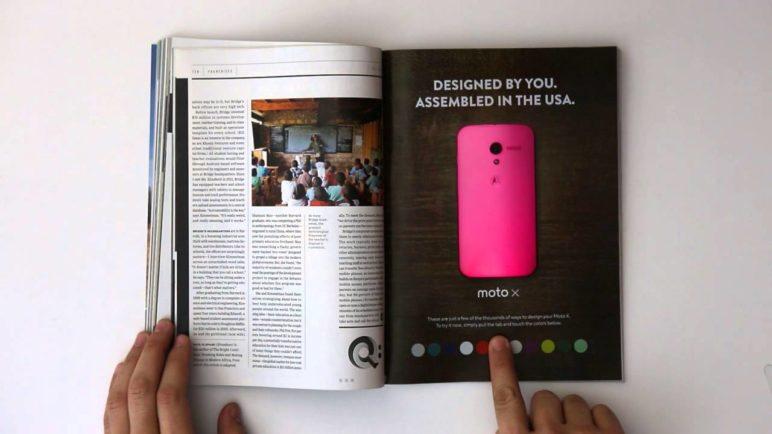 Moto X Ad - WIRED Interactive Print Ad