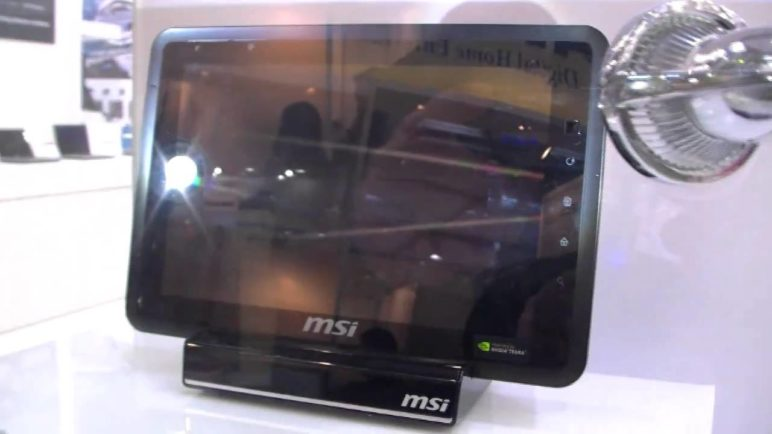 MSI WindPad 100A Android Honeycomb Tablet First View DE
