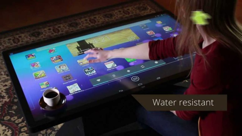 Multitouch Coffee Table with Android