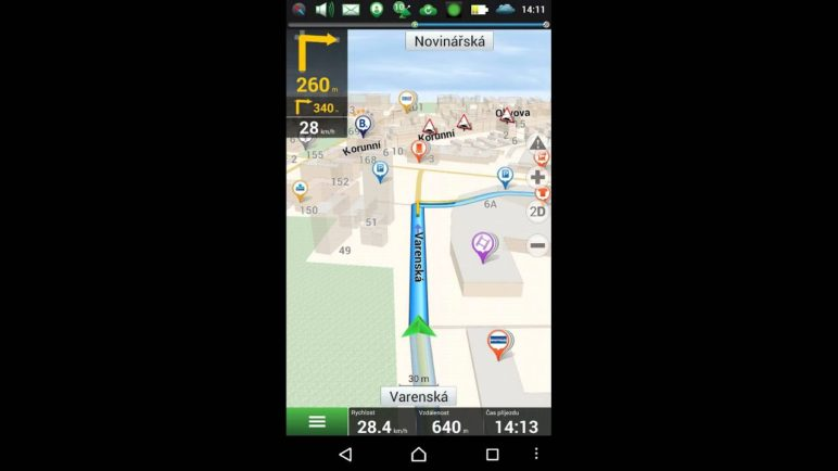 Navitel Navigator: navigace po trase