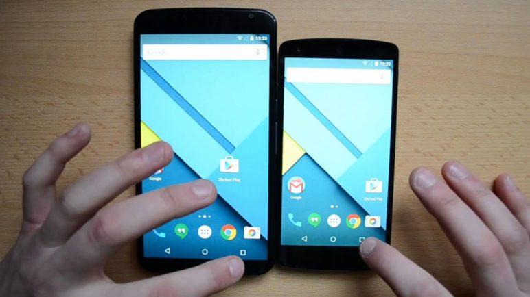 Nexus 6 vs. Nexus 5 - systém
