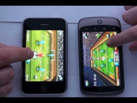 Nexus One vs iPhone on Magnetic Sports Soccer