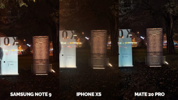 noc ve fotkach apple iphone xs vs huawei mate 20 pro vs samsung galaxy note 9