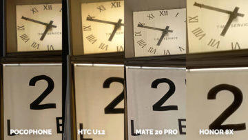 nocni fotografie Pocophone F1 vs. Huawei Mate 20 Pro vs. Honor 8X vs. HTC U12+ detail