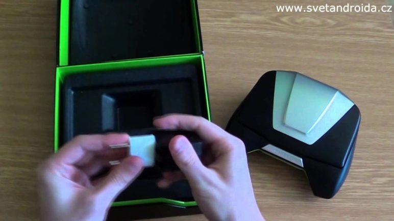 Nvidia Shield vybalení z krabice (unboxing)