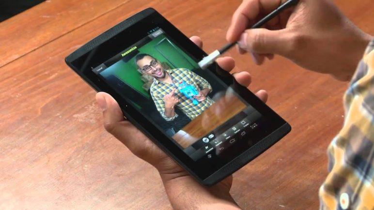 Nvidia Tegra Note 7 and DirectStylus (pen) - Demo