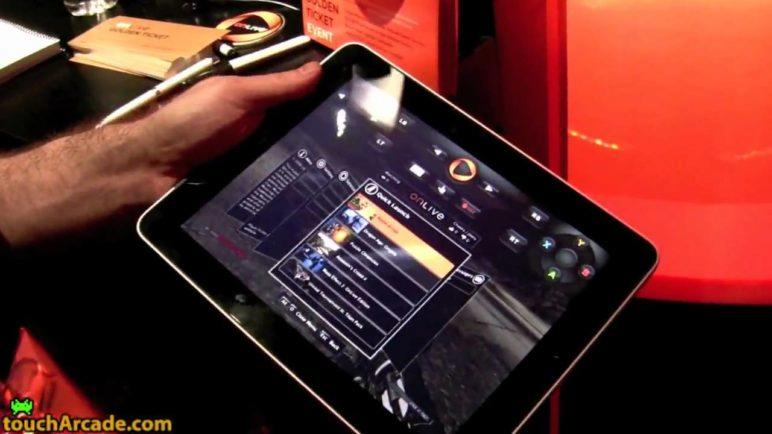 OnLive Demoed on an iPad