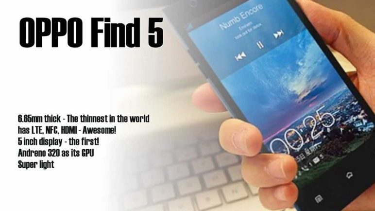 Oppo Find 5 - Features