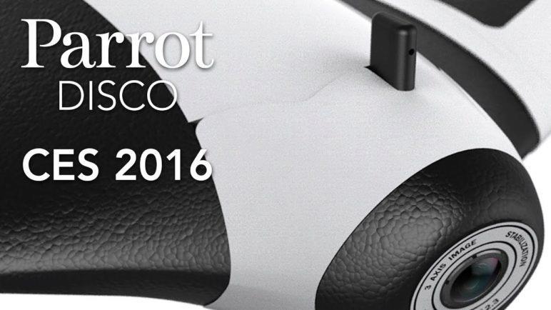 Parrot DISCO - Drone Prototype Flights #CES2016